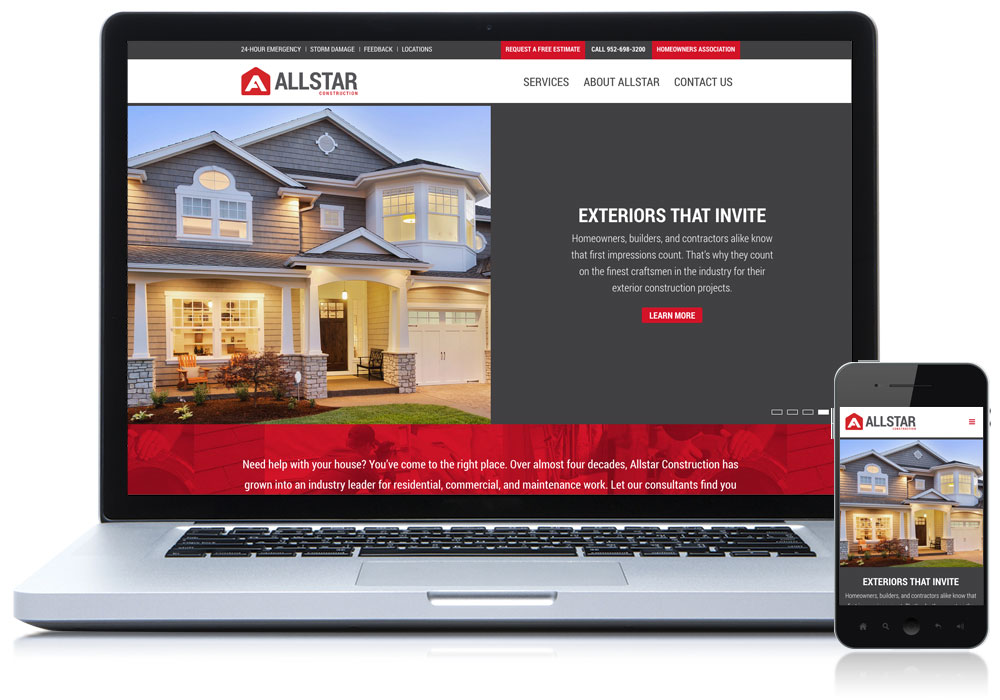 allstar construction website